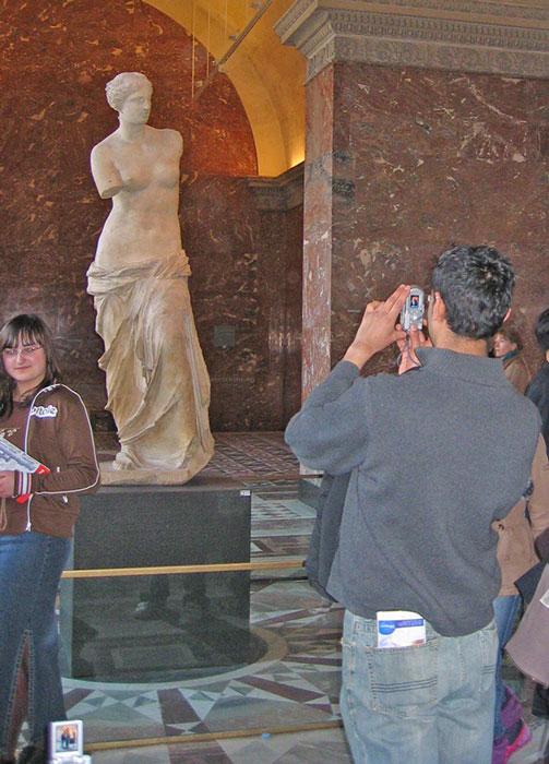 Venus från Milo i Louvren, Paris.