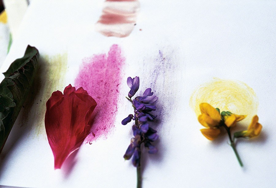 Färgprov, naturliga färger! Foto: Kerstin Engstrand