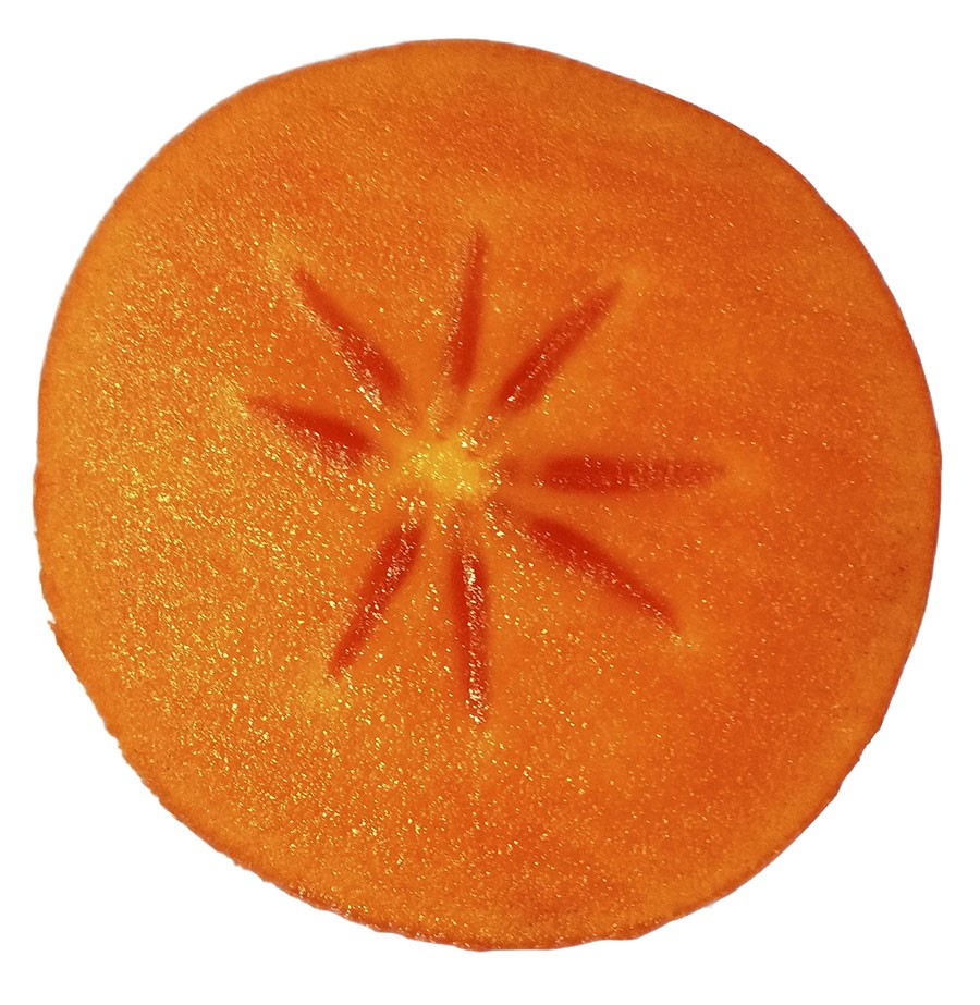 Det är sällan som man finner kärnor i en kakifrukt. Foto: Kerstin Engstrand