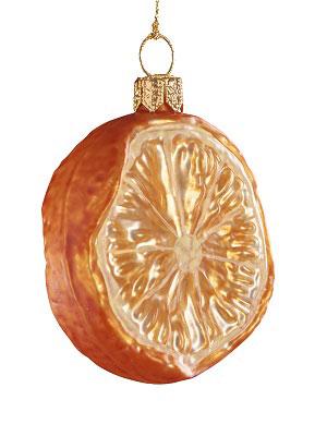 Halv mandarin, denna julgranskula säljer det brittiska trädgårdssällskapet RHS 2018.