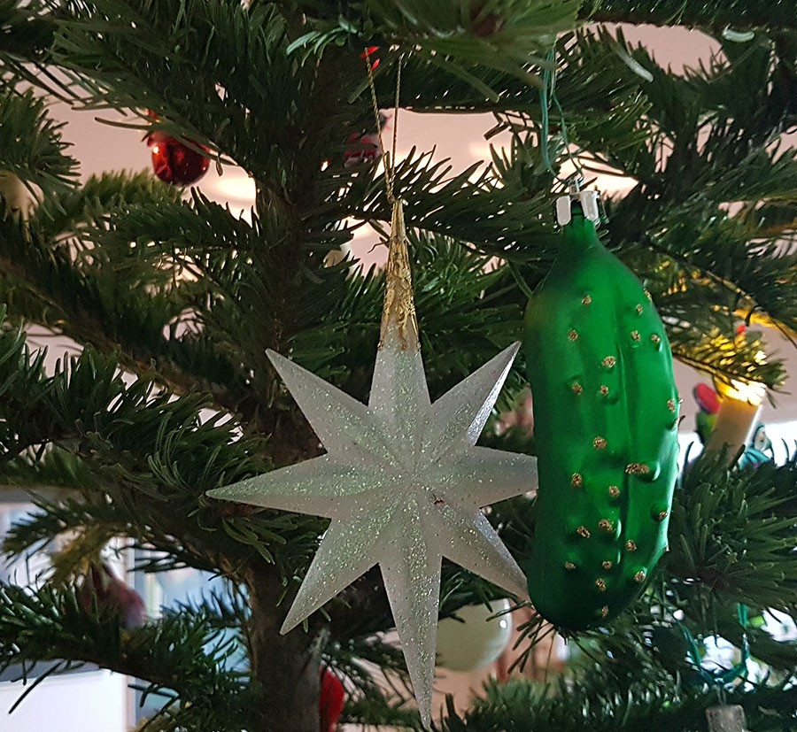 Gurka som julkula.Foto: Kerstin Engstrand