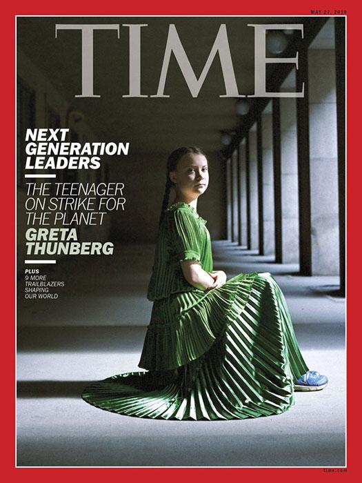 Två gånger under 2019 har Greta Thunberg prytt omslaget på Time.