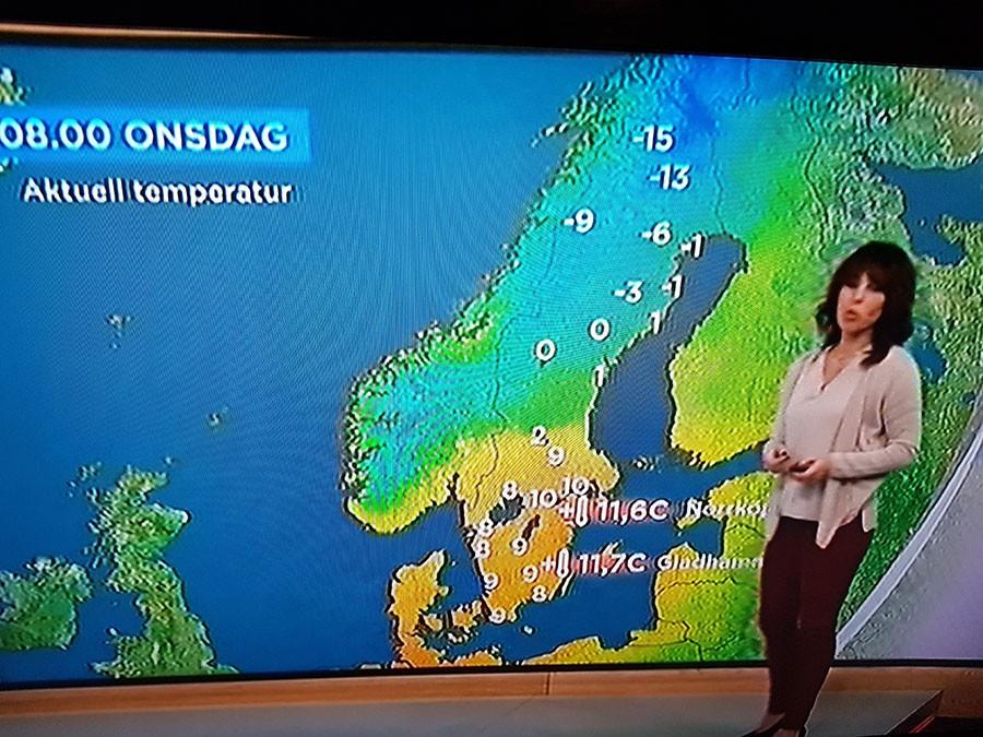 Den 15 januari var det ovanligt varmt rapporterade TV4.